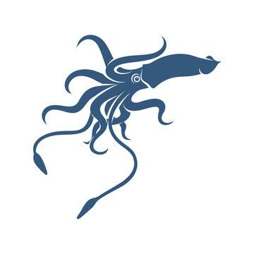 Squid design vector illustration, Creative Squid logo template, icon symbol