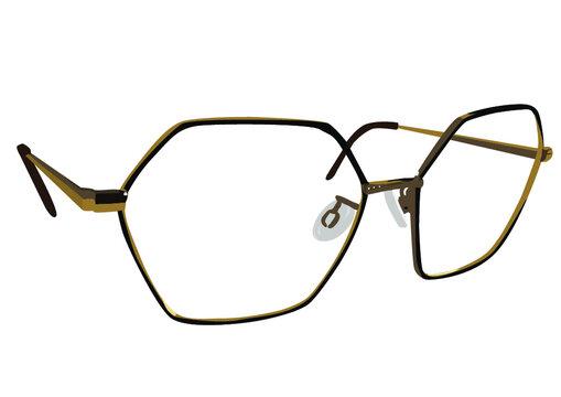 occhiali di metallo