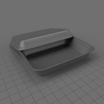 Take out polystyrene lunch box 4