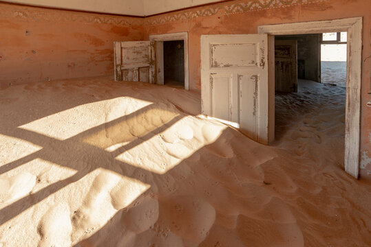 room full of sand