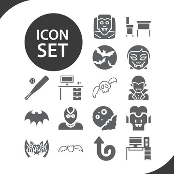 Simple set of upside related filled icons.