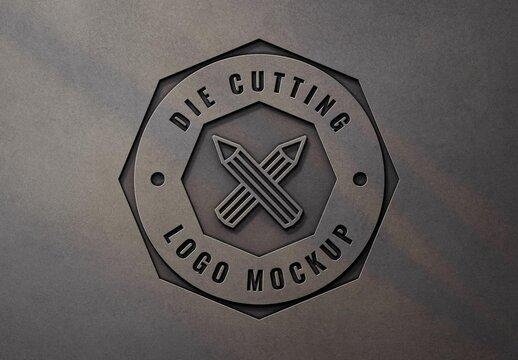 Realistic Laser Cut 3D Logo Mockup