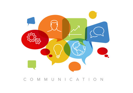 Communication Concept Illustration with Icons