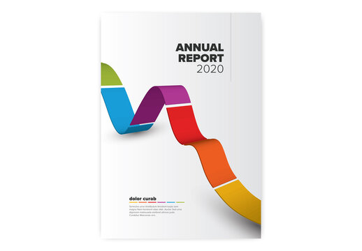 Light Annual Report Front Cover Page Layout