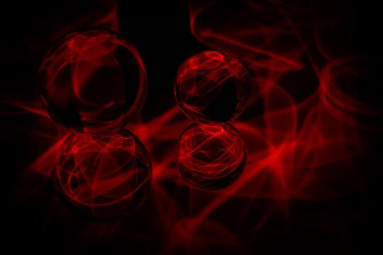 Lensball Red