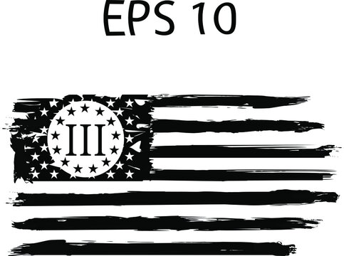 Betsy Ross 1776 13 Stars Distressed US Flag on transparent background. American US Flag. EPs 10