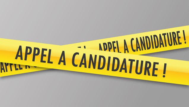 Logo appel à candidature.
