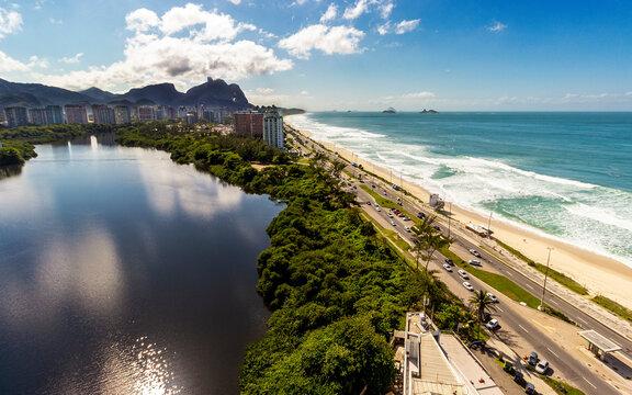 Beach and lagoon in Rio de Janeiro