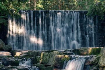 Fototapeta Dziki Wodospad W Karpaczu obraz