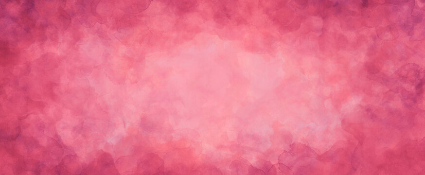 pink background texture, watercolor stains and blotches on border, mauve pink paper with burgundy valentine's day color