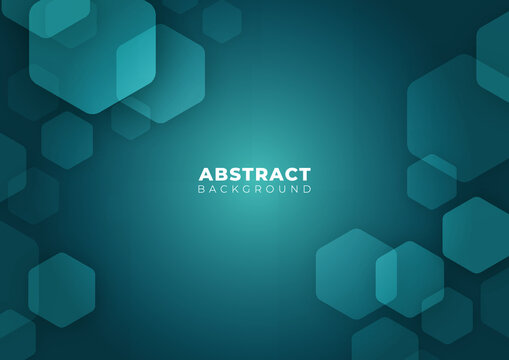 Abstract Futuristic Science, Business, Health and Technology Geometric Hexagon Shape Border Blue Background Texture Vector Illustration with Copy Space