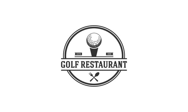 golf restaurant logo with the addition of a golf ball and tablespoon