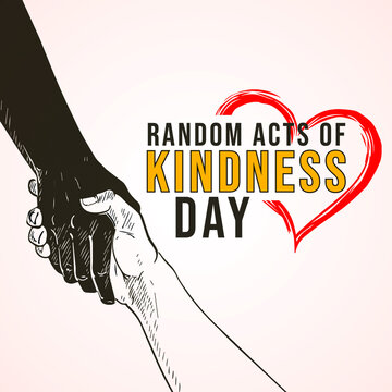 Random Acts of Kindness Day. hands background
