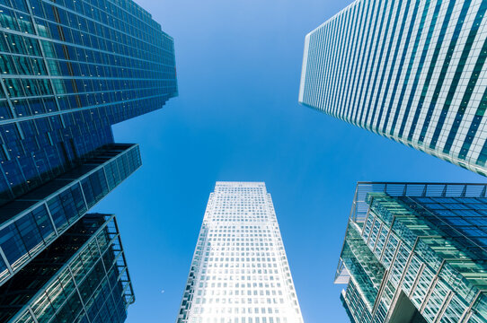 Generic view of Modern Skyscrapers in London.