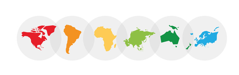 Fototapeta Earth continent silhouettes obraz