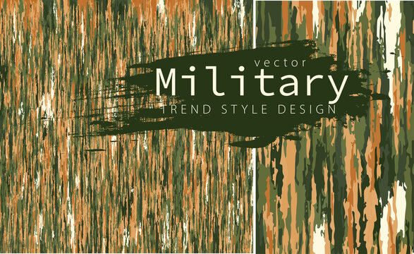 Old dirty camouflage fabric. Camouflage vector background pattern.