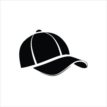 Baseball hat icon isolated on white background. Baseball hat icon trendy and modern Baseball hat symbol for logos, web, apps, UI. Simple baseball cap sign icon.