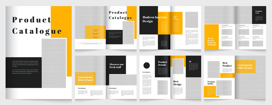 modern product catalog and multipage brochure design template