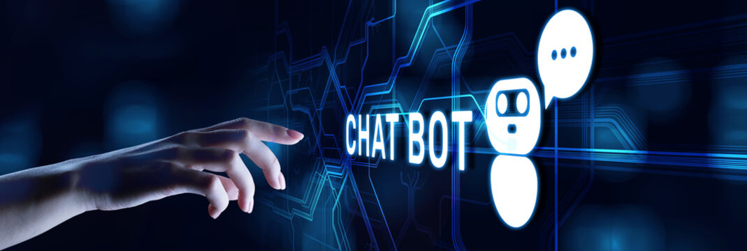 Chatbot Customer service automation NLP natural language processing business technology concept.
