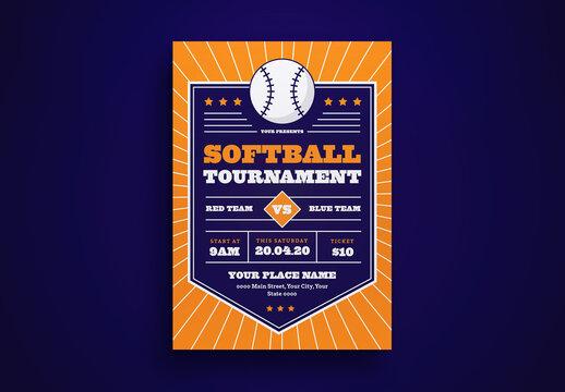 Softball Tournament Flyer Layout
