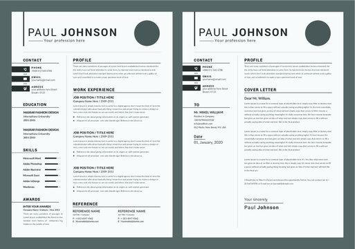 Minimalist Resume/CV Layout Set