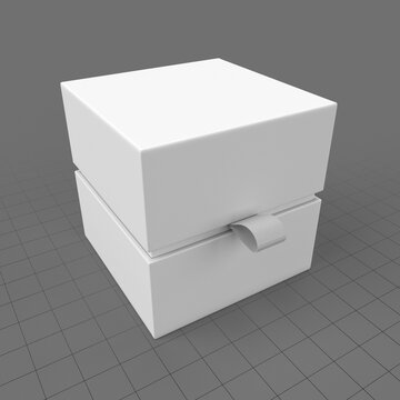 Paper gift box with strap 2