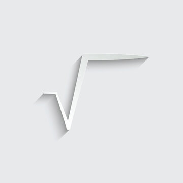 paper math sign square root icon vector