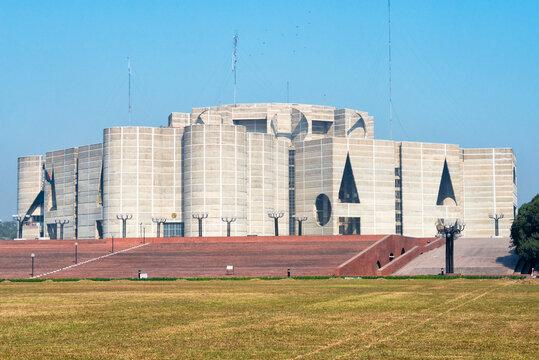 Jatiya Sangsad Bhaban (National Parliament House) designed by Louis Kahn, Dhaka, Bangladesh