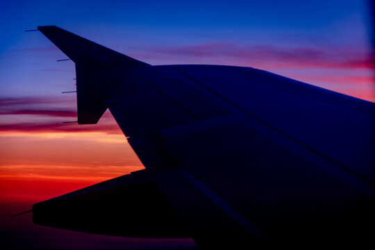 Airplan Against Sunset