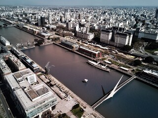 Aerial View Of Cityscape With River
