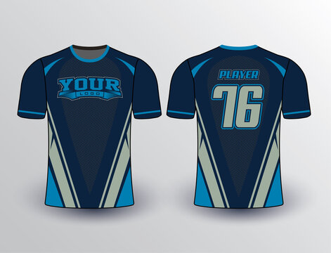 Baseball softball soccer esports all sports team gear unique design uniform templates and mockup