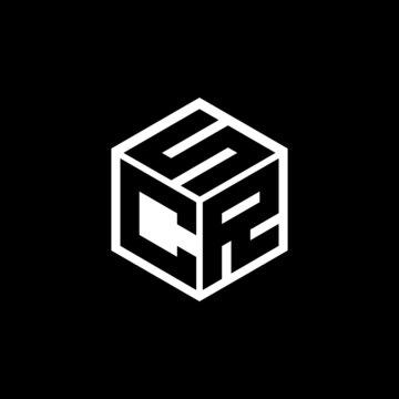 CRS letter logo design with black background in illustrator, cube logo, vector logo, modern alphabet font overlap style. calligraphy designs for logo, Poster, Invitation, etc.