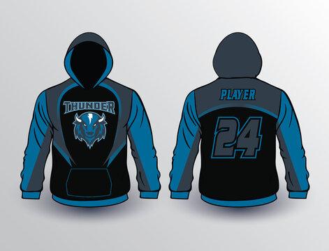 Baseball softball soccer esports all sports team gear unique design fleece hoodie templates and mockup