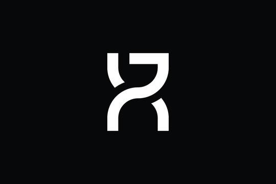 XR logo letter design on luxury background. RX logo monogram initials letter concept. XR icon logo design. RX elegant and Professional letter icon design on black background. R X XR RX