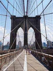 Brooklyn Bridge In City