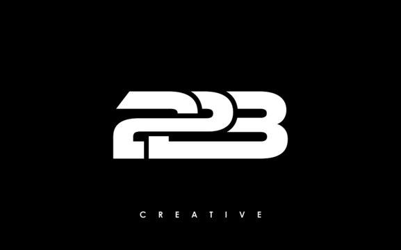 223 Letter Initial Logo Design Template Vector Illustration