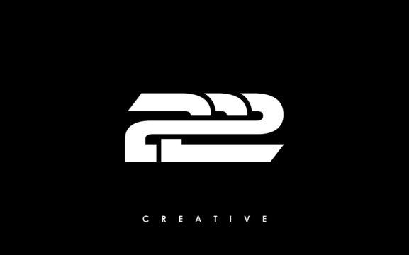 222 Letter Initial Logo Design Template Vector Illustration