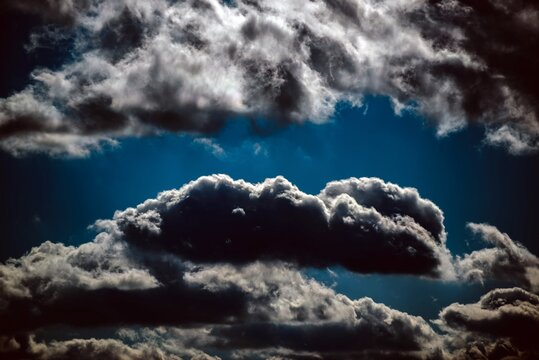 Sky with Silver Lining Clouds