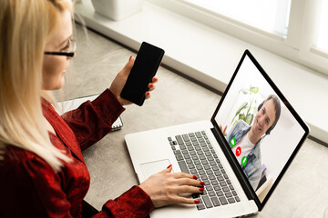 Video Conference Work Webinar Online At Home