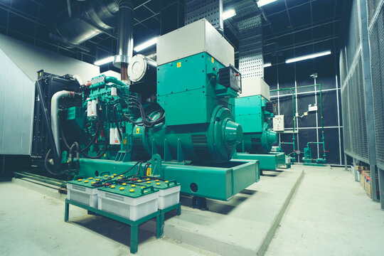 big generator engine power backup system of industrial