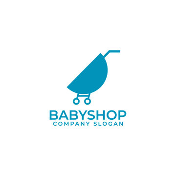 Modern baby shop logo template vektor