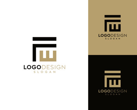 Abstract letter FW letter logo design, FW icon vector art , letter FW logo