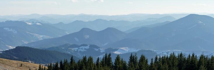 Panoramic view on Karpatian Mountains