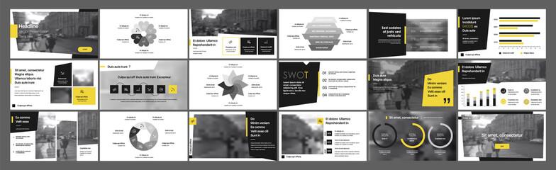 Obraz Geometric Graphic Design Project Proposal Presentation. Infographic Slide Template. For use in Presentation, Flyer and Leaflet, SEO, Marketing, Webinar Landing Page Template, Website Design, Banner. - fototapety do salonu
