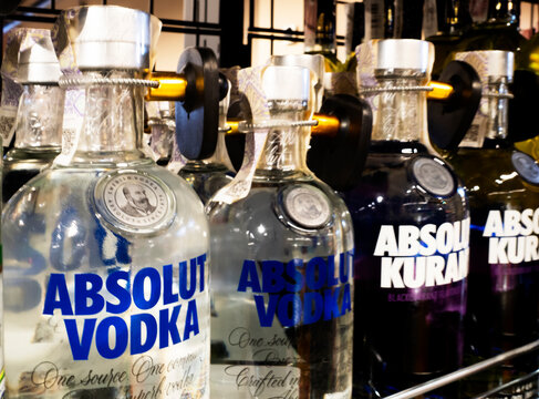 Absolut vodka in the store