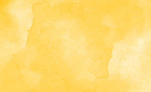 Beautiful yellow watercolor background