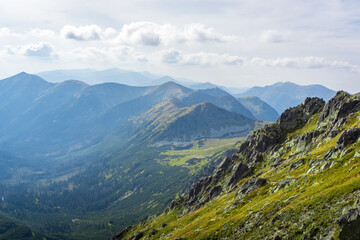 Obraz Dolina Pięciu Stawów Polskich - The Valley of the Five Polish Ponds. Tatra Mountains, Poland - fototapety do salonu
