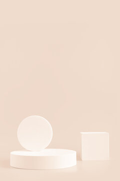 Podium stand, trendy minimal geometric scene  for product
