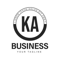 Obraz KA Initial A Logo Design with Abstract Style - fototapety do salonu