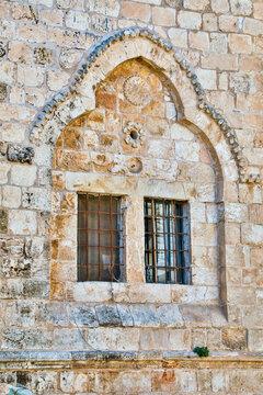 Israel, Jerusalem. Mount Zion, Upper Room exterior.